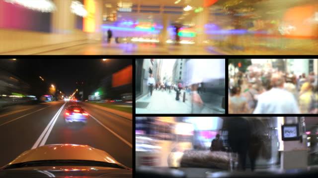 HD LOOP MONTAGE: City life video