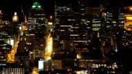 City lights at night video