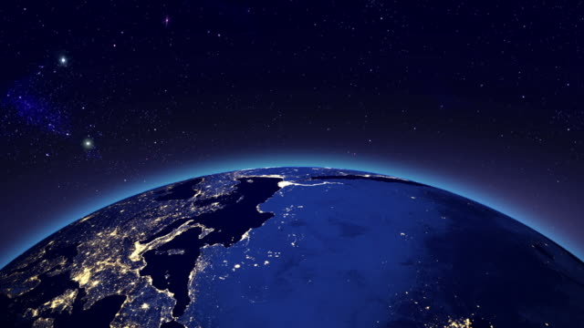 City lights in Europe & Africa from space video
