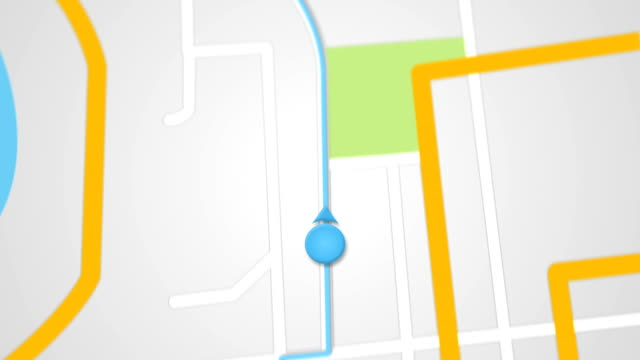 city map GPS navigation seamless loop video