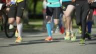 City Marathon Runners At Race (4K/UHD) video