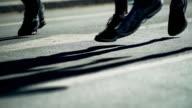 City Marathon Runners In The Back Lit (4K/UHD) video