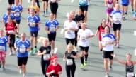 City marathon runners video
