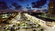 City night aerial video