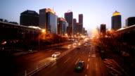 City night traffic video