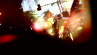 City Nightlife and Traffic jam video