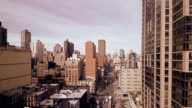 City. NYC. new york. skyline. skyscrapers. cityscape. aerial view. urban video