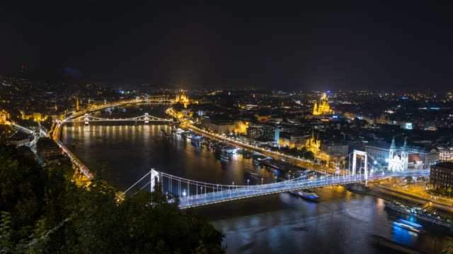 City of Budapest at night video