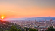 City of Florence, Italy at sunset video