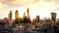 City of London business and banking aria video
