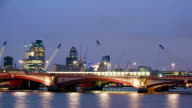 City of London panning timelapse video