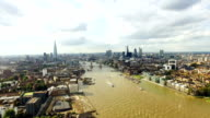 City of London Skyline Aerial View video