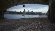 City of London Skyline from under Blackfriars Bridge video
