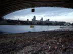 City of London Skyline from under Blackfriars Bridge video