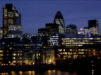 City of London Skyline, Night video