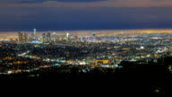 City of Los Angeles Night Aerial Panorama Wide video