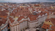 City of Prague - aerial view from Old Town Square video