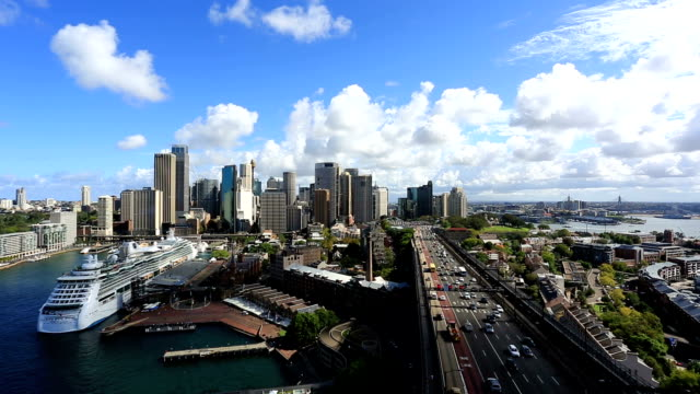 City of Sydney Cityscape View From Harbour Bridge, Australia video