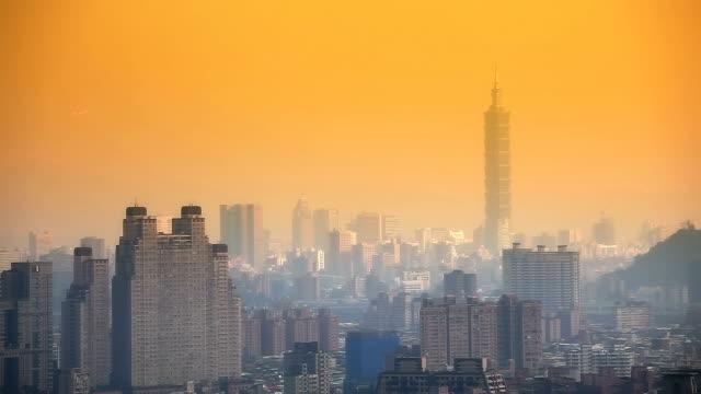 City of Taipei at dawn video