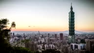City of Taipei at Sunset video