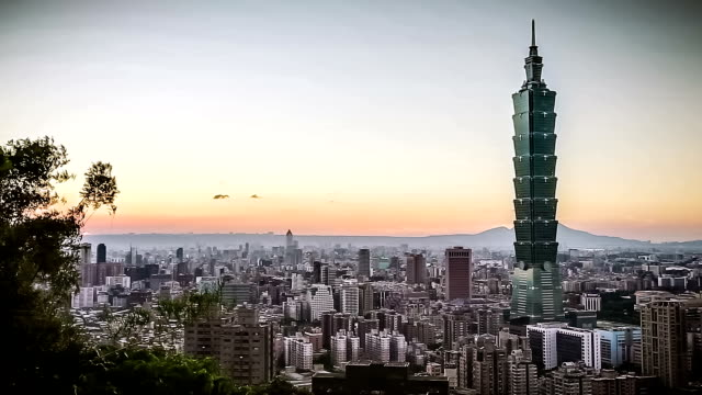 City of Taipei at Sunset video