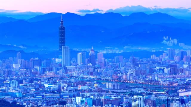 City of taipei(night to day) video