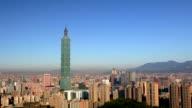 City of Taipei Wide shot video