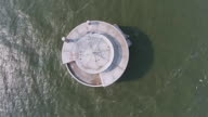 City of Toledo's Water Intake in Lake Erie view straight down video