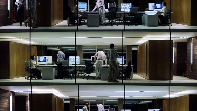 City office business evening video