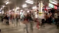 City passage with motion blur video