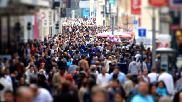 City Pedestrian Traffic Brussels Tilt Shift Slow Motion video