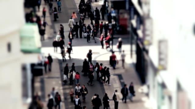 City Pedestrian Traffic Brussels Tilt Shift video