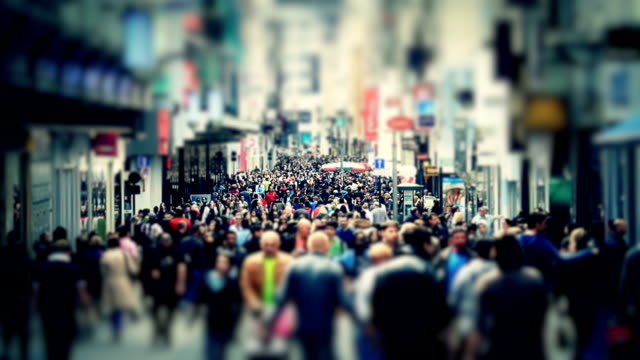 City Pedestrian Traffic Brussels Tilt Shift video