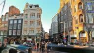 City Pedestrian Traffic Time Lapse Amsterdam video