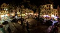 City Pedestrian Traffic Time Lapse Brussels Fisheye video