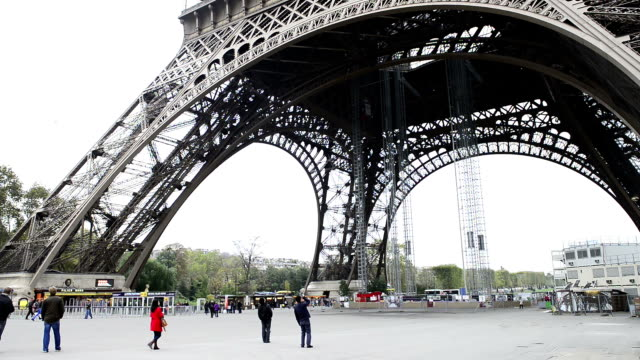 City Pedestrian Traffic Time Lapse Eiffel Tower video