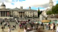City Pedestrian Traffic Time Lapse London Pan video