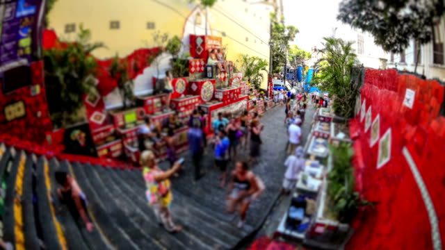 City Pedestrian Traffic Time Lapse Rio video