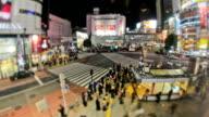 City Pedestrian Traffic Time Lapse Tokyo Shibuya video