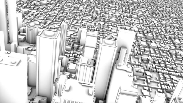 City Skyline Downtown 3D (Looping) video