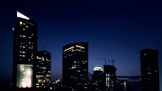 City Skyscrapers at Night video