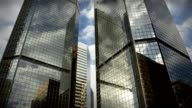 City Skyscrapers Business Office Buildings Architecture Clouds Time-lapse LOOP video