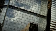 City Skyscrapers Business Office Buildings Architecture Window Reflections Clouds View video