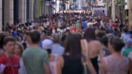 City Street Crowd video