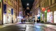 City Street Pedestrian Time Lapse video