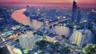 City sunset 4K video
