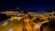 SEATTLE city time-lapse freeway traffic video