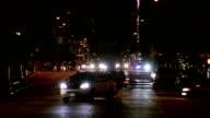 City traffic at night video