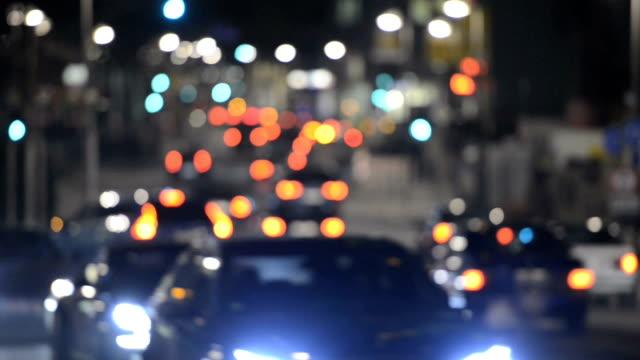 city traffic defocused Time Lapse video