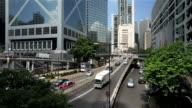 City Traffic in Hong Kong video